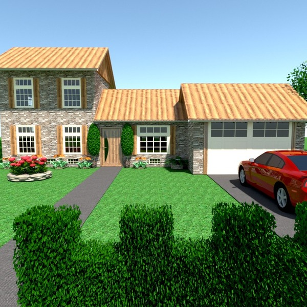 fotos casa garagem área externa paisagismo arquitetura despensa ideias