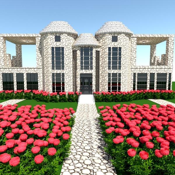 fotos casa área externa paisagismo arquitetura patamar ideias