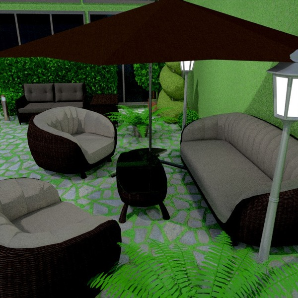 fotos muebles exterior iluminación ideas