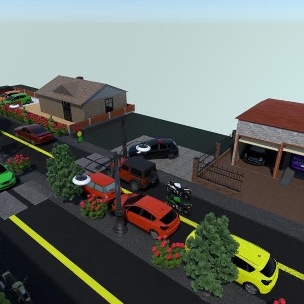 nuotraukos namas garažas eksterjeras apšvietimas kraštovaizdis idėjos