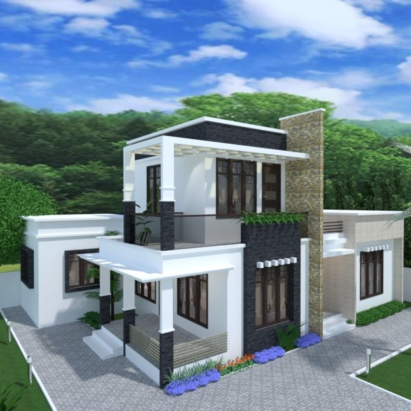 foto casa veranda angolo fai-da-te garage esterno illuminazione paesaggio architettura idee