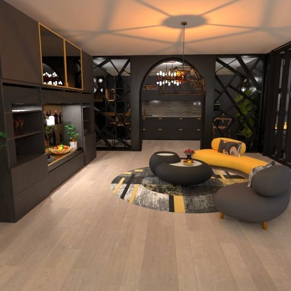 идеи квартира декор гостиная кухня освещение идеи