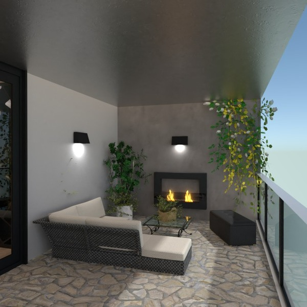 photos apartment terrace furniture decor lighting ideas