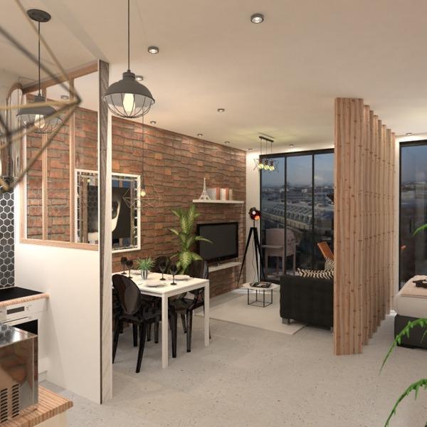 идеи квартира декор гостиная кухня идеи