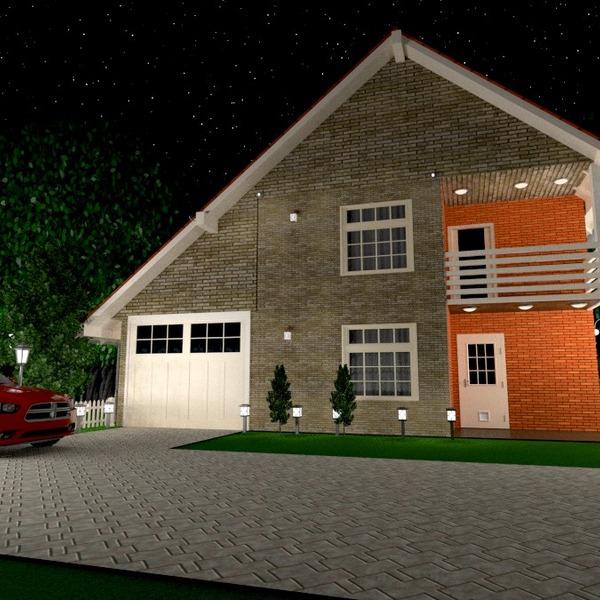 photos maison garage extérieur eclairage paysage architecture idées