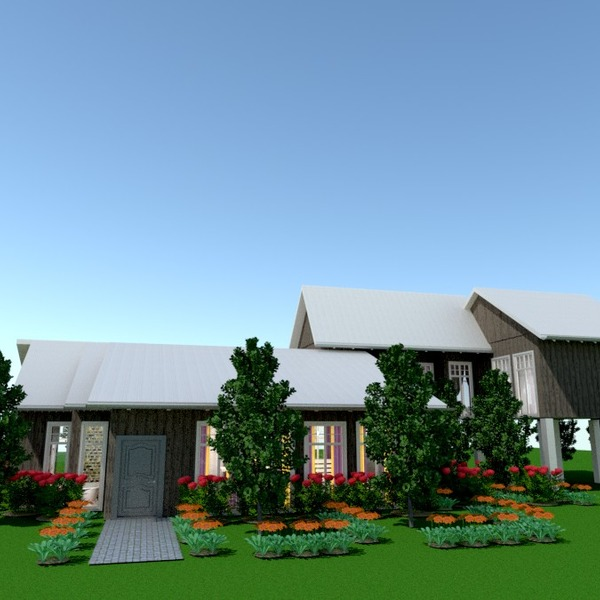 nuotraukos namas terasa eksterjeras kraštovaizdis аrchitektūra idėjos