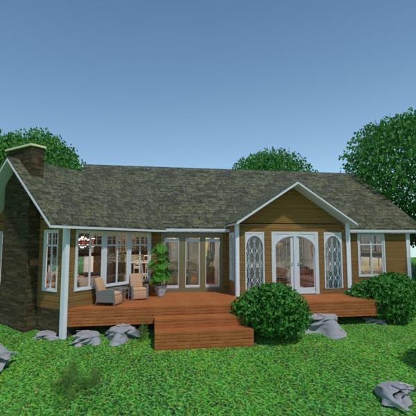 foto casa veranda illuminazione famiglia idee