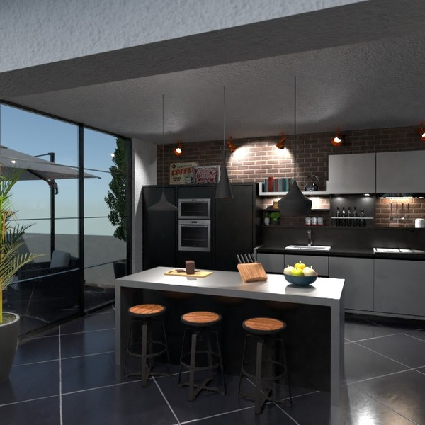 photos appartement terrasse meubles cuisine idées