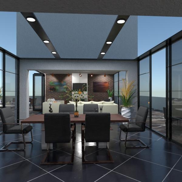 идеи квартира терраса мебель гостиная столовая идеи