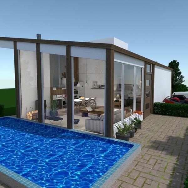 foto casa garage esterno illuminazione paesaggio architettura vano scale idee