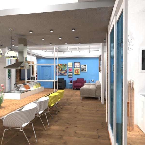 foto appartamento camera da letto cucina studio illuminazione architettura monolocale idee