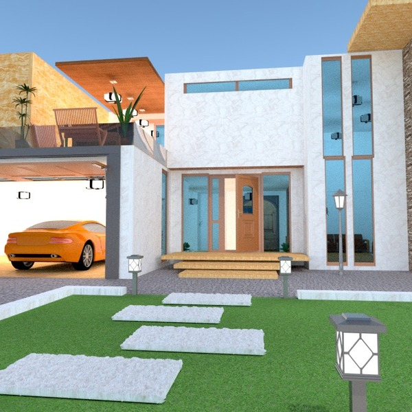 nuotraukos namas terasa garažas eksterjeras аrchitektūra idėjos