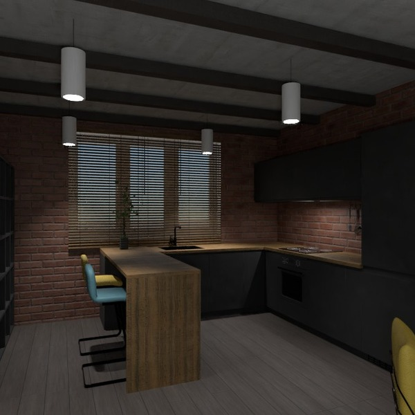 идеи мебель гостиная кухня освещение студия идеи