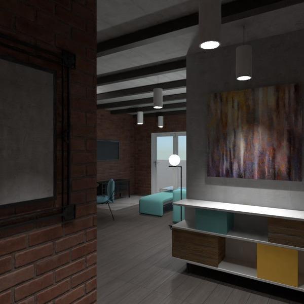zdjęcia meble pokój dzienny kuchnia oświetlenie mieszkanie typu studio pomysły