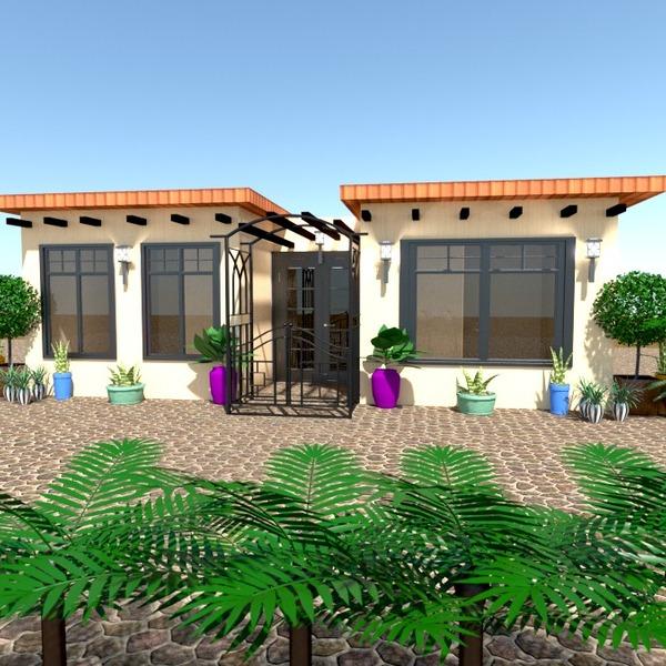fotos apartamento casa área externa paisagismo arquitetura ideias