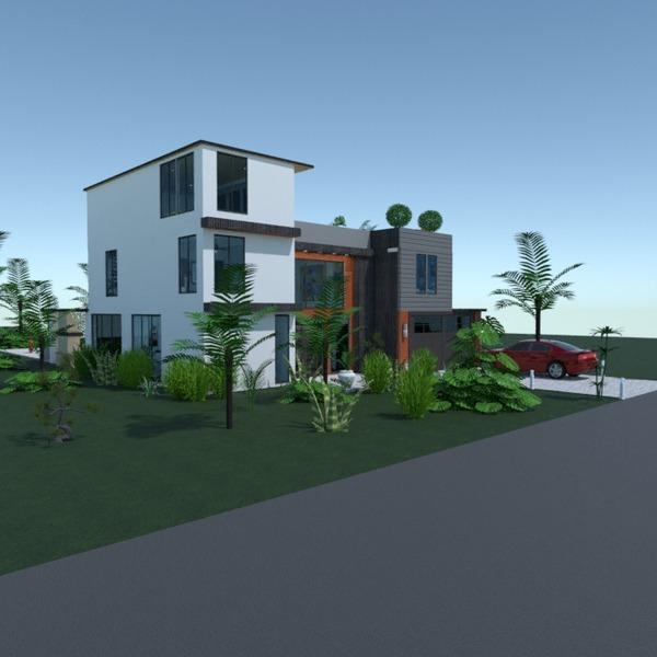 fotos casa varanda inferior área externa paisagismo arquitetura patamar ideias