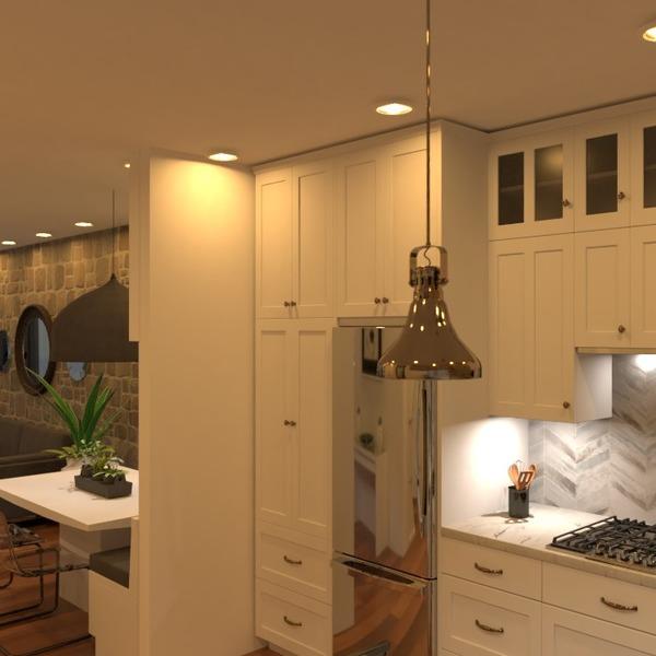 nuotraukos butas svetainė virtuvė apšvietimas idėjos