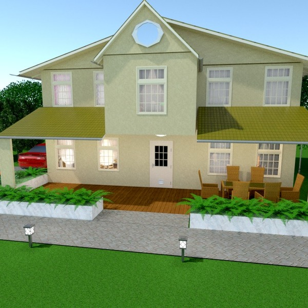 идеи дом терраса гараж улица ландшафтный дизайн архитектура идеи
