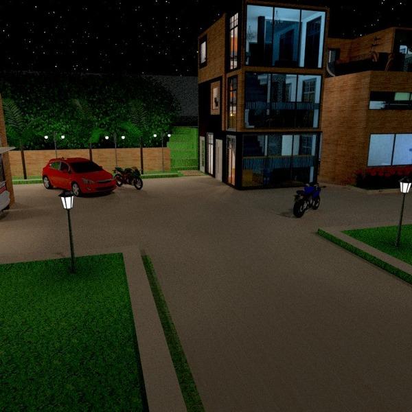 идеи терраса гараж освещение ландшафтный дизайн архитектура идеи