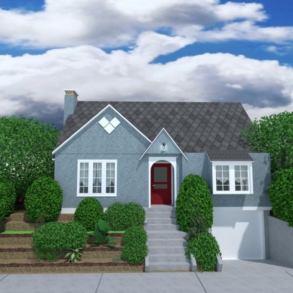 foto casa angolo fai-da-te garage esterno illuminazione paesaggio architettura idee