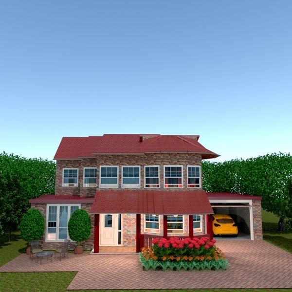 fotos casa terraza garaje exterior paisaje ideas