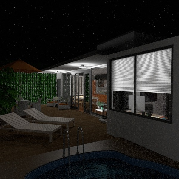 foto casa veranda angolo fai-da-te illuminazione paesaggio idee
