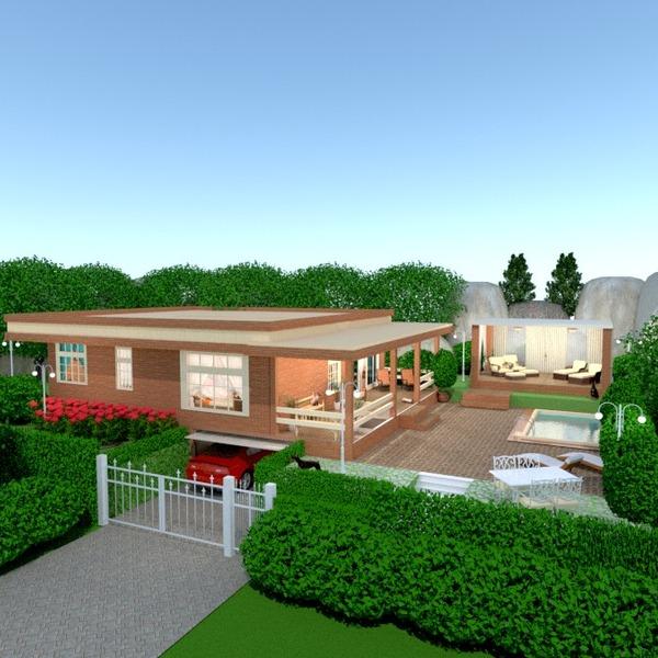 nuotraukos namas terasa garažas eksterjeras kraštovaizdis аrchitektūra idėjos