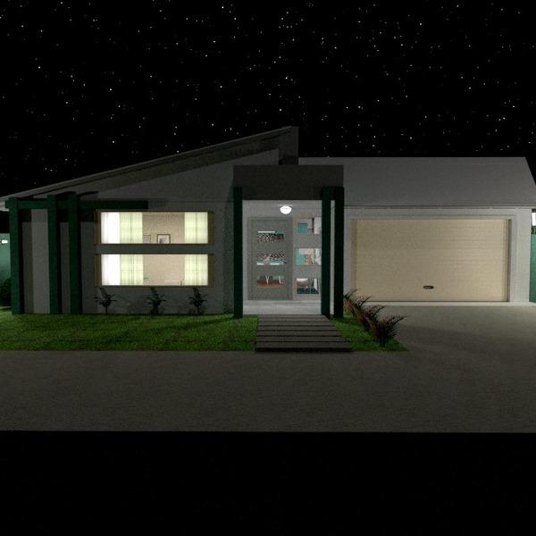 photos maison garage extérieur eclairage paysage architecture entrée idées
