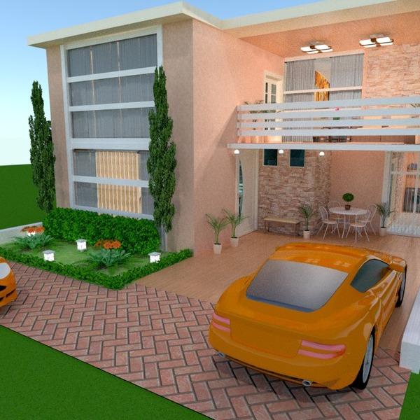 fotos casa varanda inferior garagem área externa arquitetura ideias