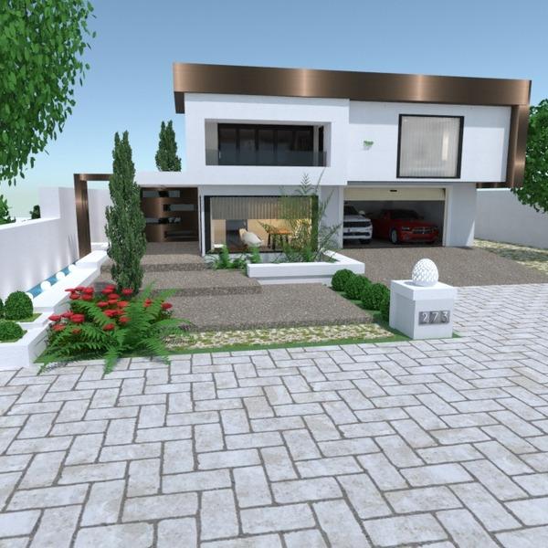 fotos casa garaje exterior reforma paisaje descansillo ideas