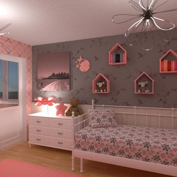nuotraukos dekoras miegamasis vaikų kambarys idėjos