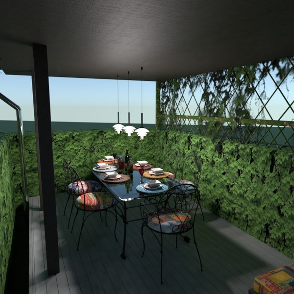 nuotraukos namas terasa eksterjeras valgomasis idėjos