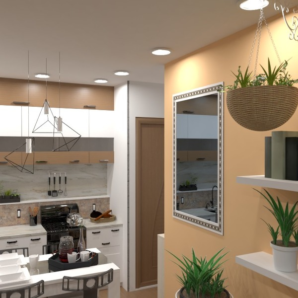 foto appartamento angolo fai-da-te saggiorno cucina illuminazione idee