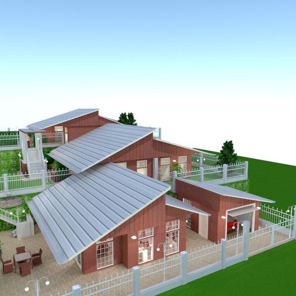 fotos casa varanda inferior garagem área externa paisagismo arquitetura ideias