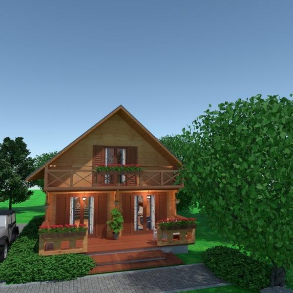 nuotraukos namas terasa eksterjeras apšvietimas idėjos