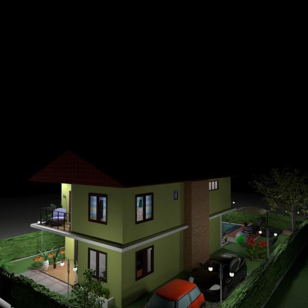 nuotraukos namas eksterjeras apšvietimas idėjos