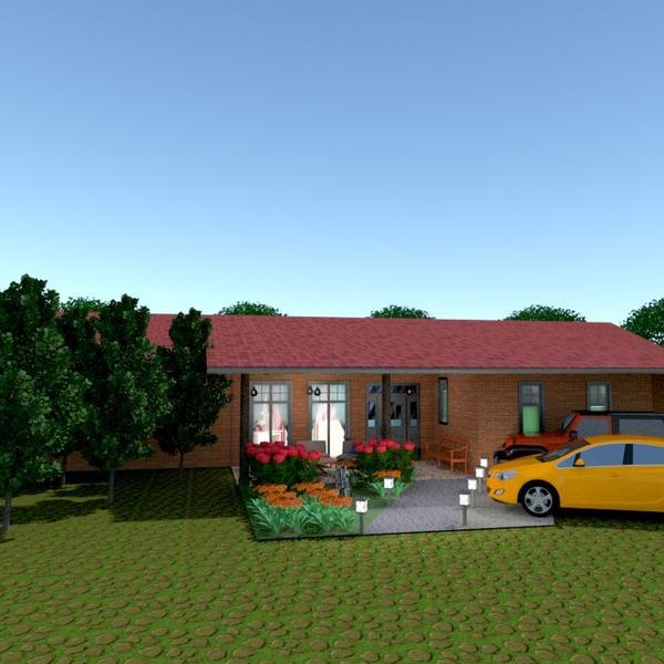 nuotraukos namas terasa garažas eksterjeras kraštovaizdis idėjos