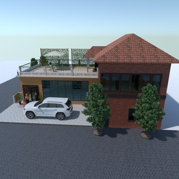 fotos casa área externa cafeterias arquitetura ideias