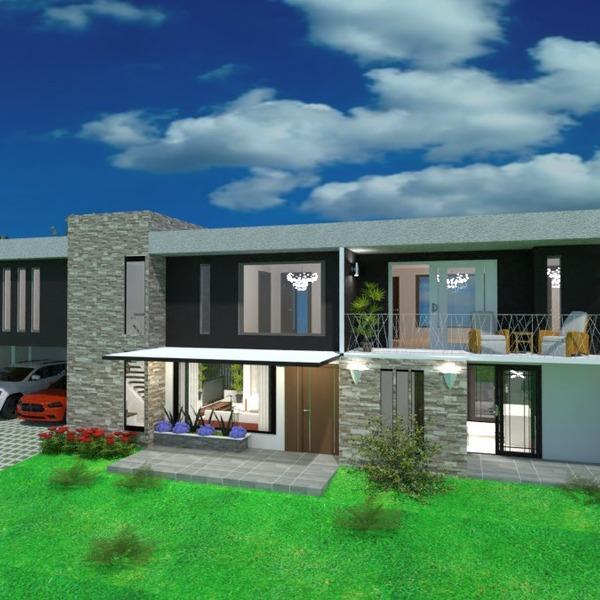 nuotraukos namas terasa garažas kraštovaizdis аrchitektūra idėjos