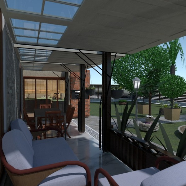 fotos casa varanda inferior decoração área externa despensa ideias