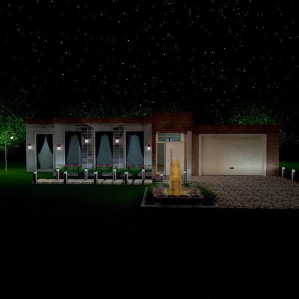 foto casa veranda esterno illuminazione paesaggio idee