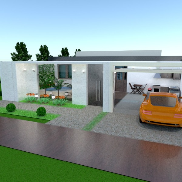 fotos casa varanda inferior garagem área externa paisagismo ideias