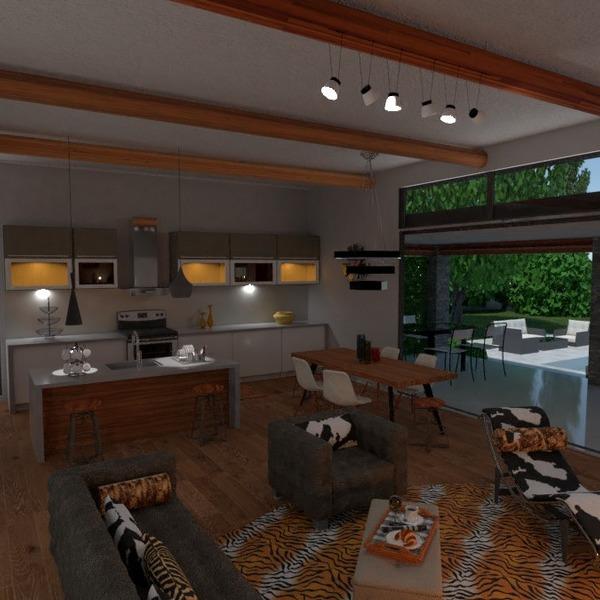 идеи гостиная кухня ландшафтный дизайн столовая идеи