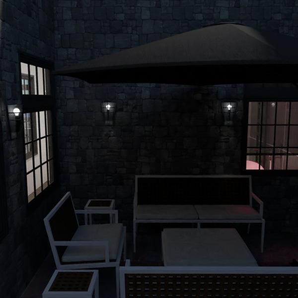 zdjęcia dom taras meble oświetlenie krajobraz pomysły