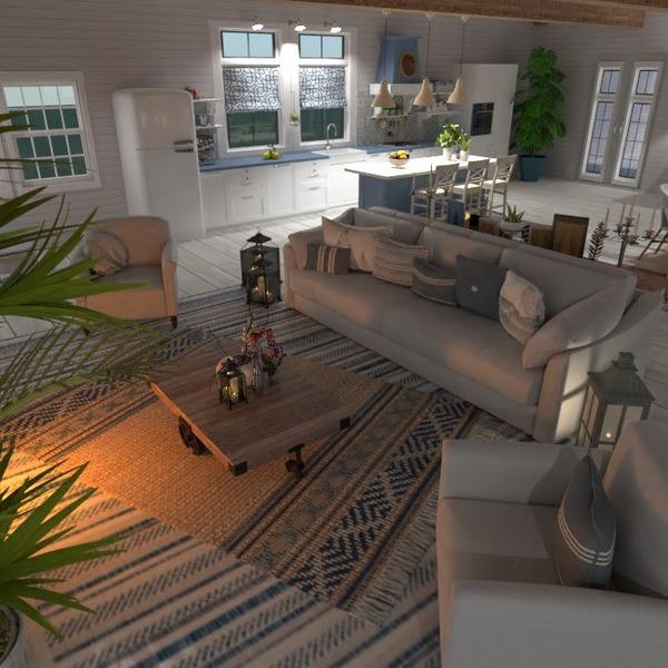 nuotraukos baldai svetainė virtuvė apšvietimas renovacija idėjos