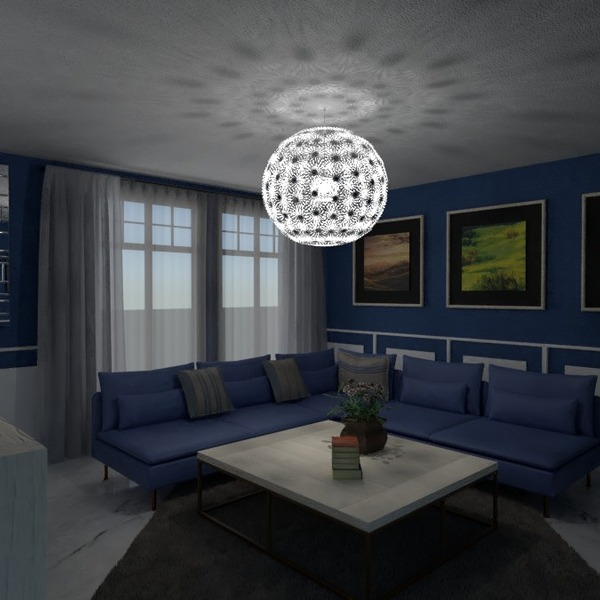 fotos muebles decoración salón iluminación ideas