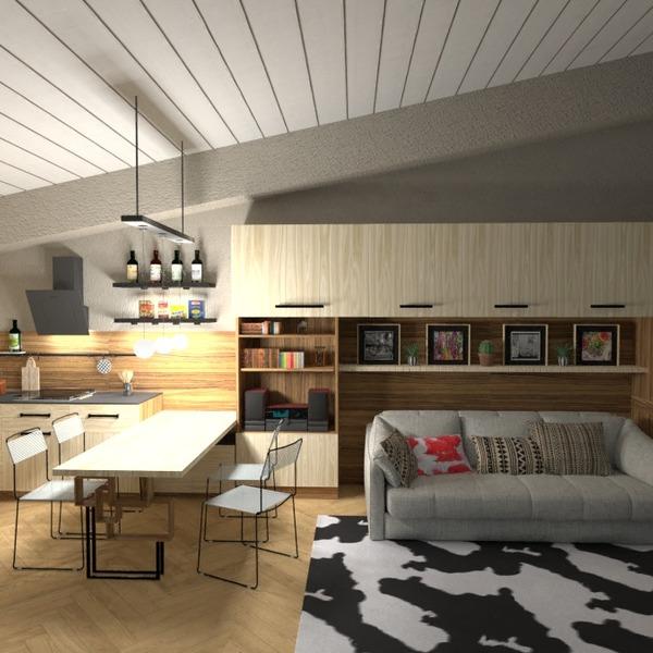 идеи гостиная кухня освещение идеи