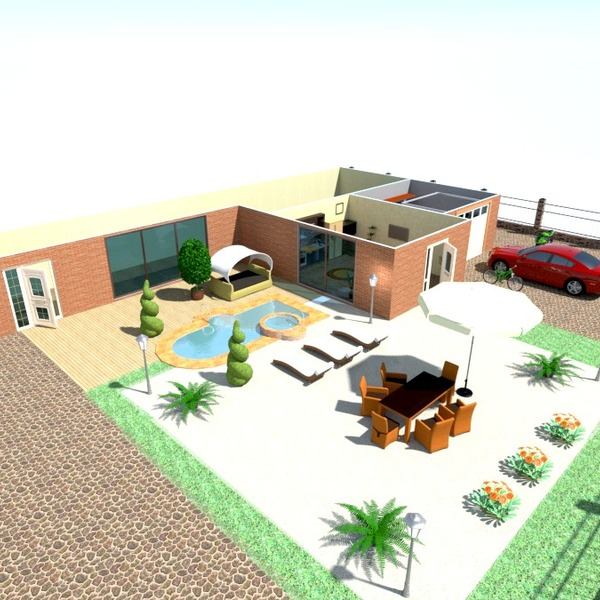 photos maison terrasse meubles garage cuisine extérieur paysage idées