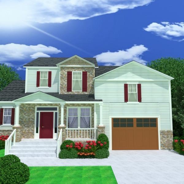 foto casa veranda garage illuminazione paesaggio architettura idee
