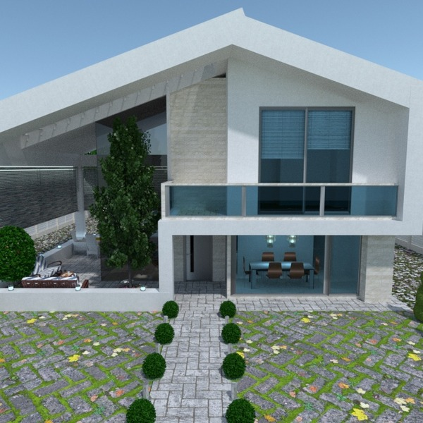 fotos casa área externa paisagismo utensílios domésticos arquitetura patamar ideias